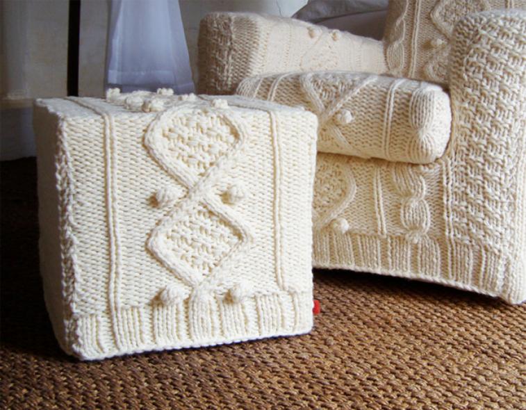 estupendo diseño muebles fundas lana