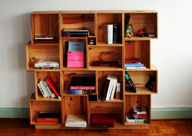 estupendo mueble DIY estantes madera