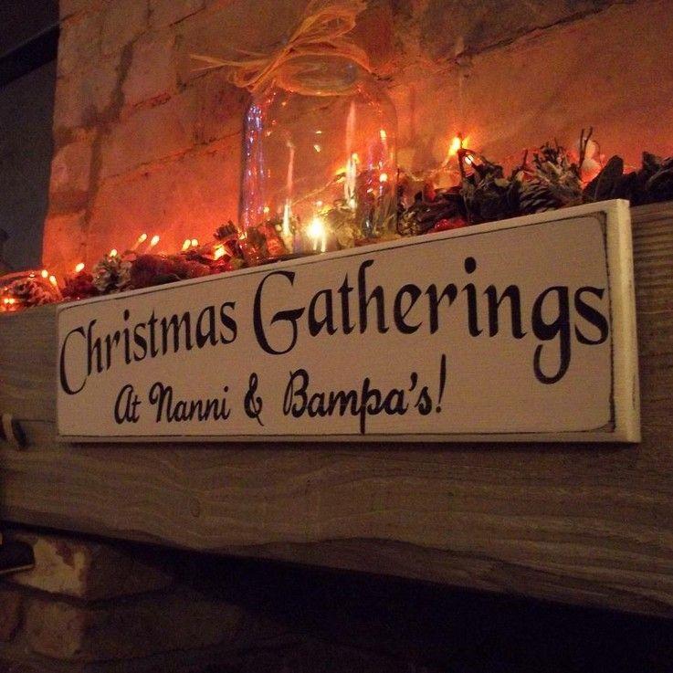 estupendo cartel navidad chimenea madera