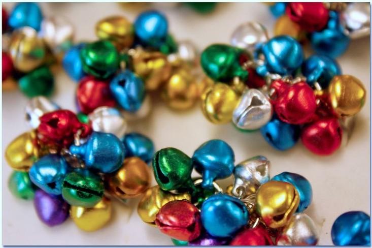 estupendos adornos cascabeles colores metal
