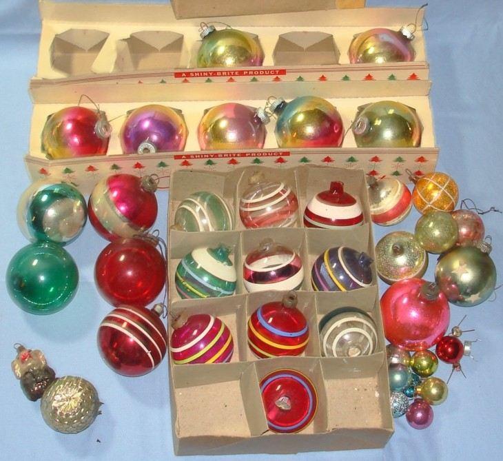 estupendos adornos viejos vintage navidad