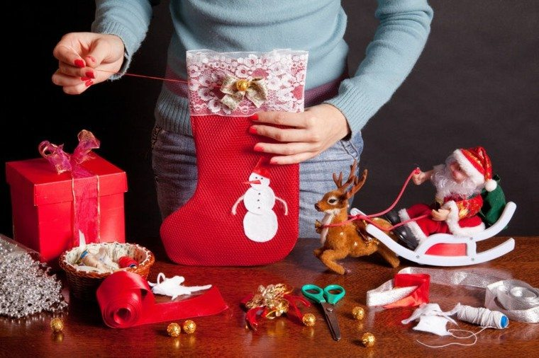 estupendos adornos navideños diy medias