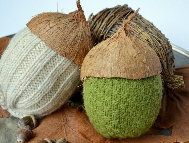 estupendos adornos bellota lana coco