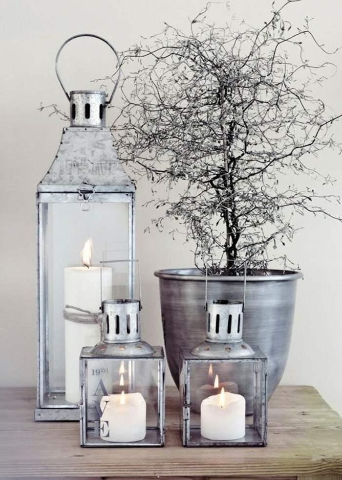 estupendos adornos color plata