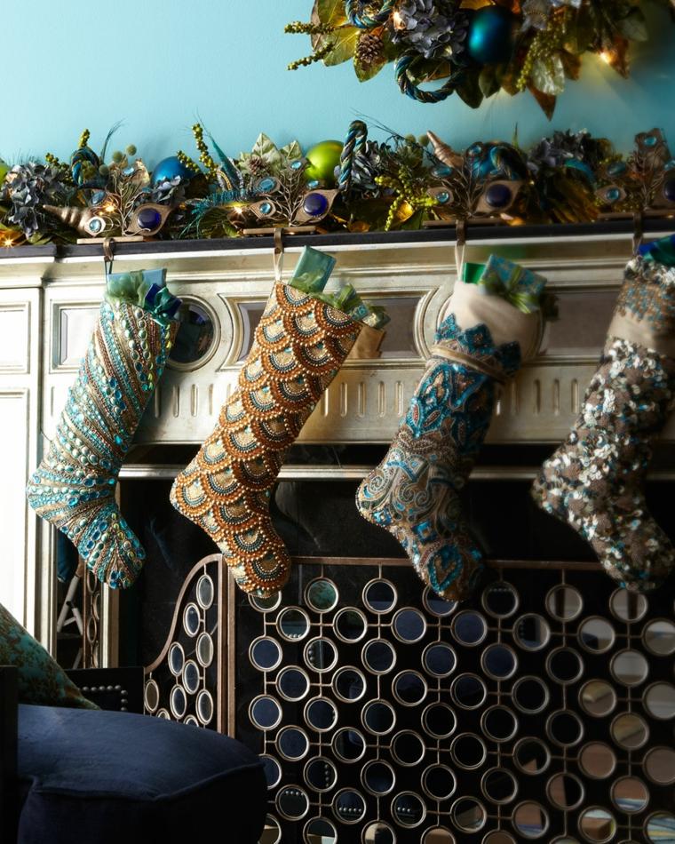 Calcetines navide os para decorar el hogar 50 ideas - Calcetines de navidad personalizados ...