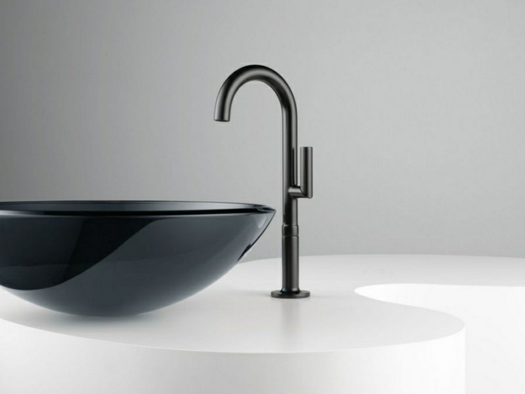 etupendo diseño lavabo color negro