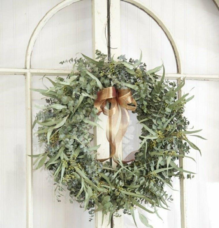 eucalipto decoracion navidad estilo casa ventanas