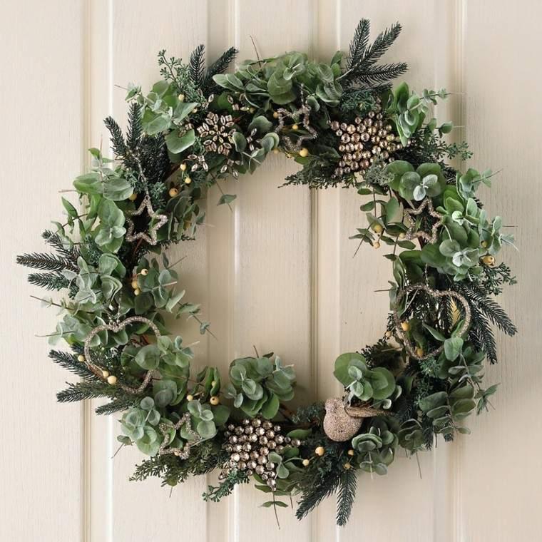 eucalipto decoracion navidad estilo corona plantas
