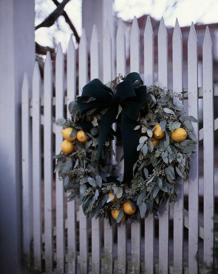 eucalipto decoracion navidad estilo entrada exterior