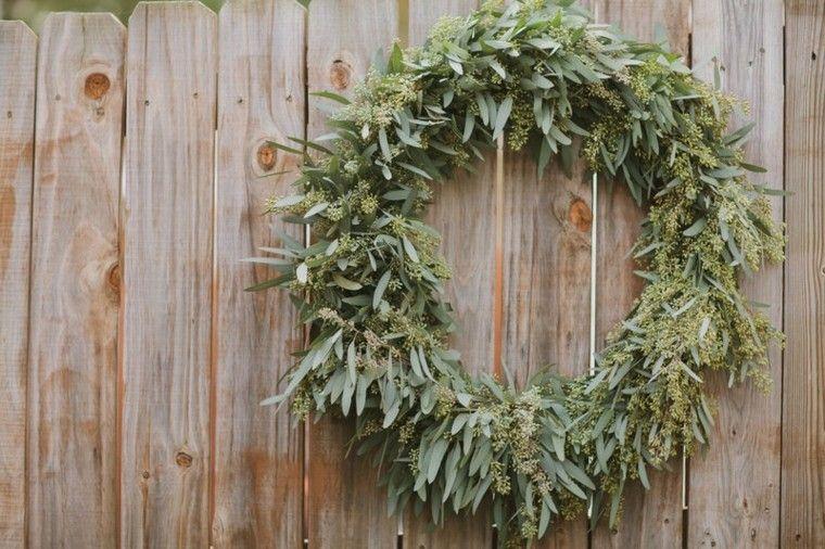 eucalipto decoracion navidad estilo patio madera
