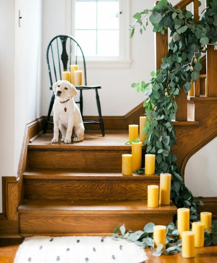 eucalipto decoracion navidad estilo pero madera