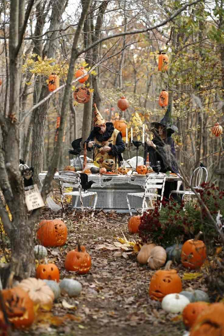 Decoracion Jardin Halloween ~ Paisajes oto?ales en el jard?n  50 ideas de decoraci?n