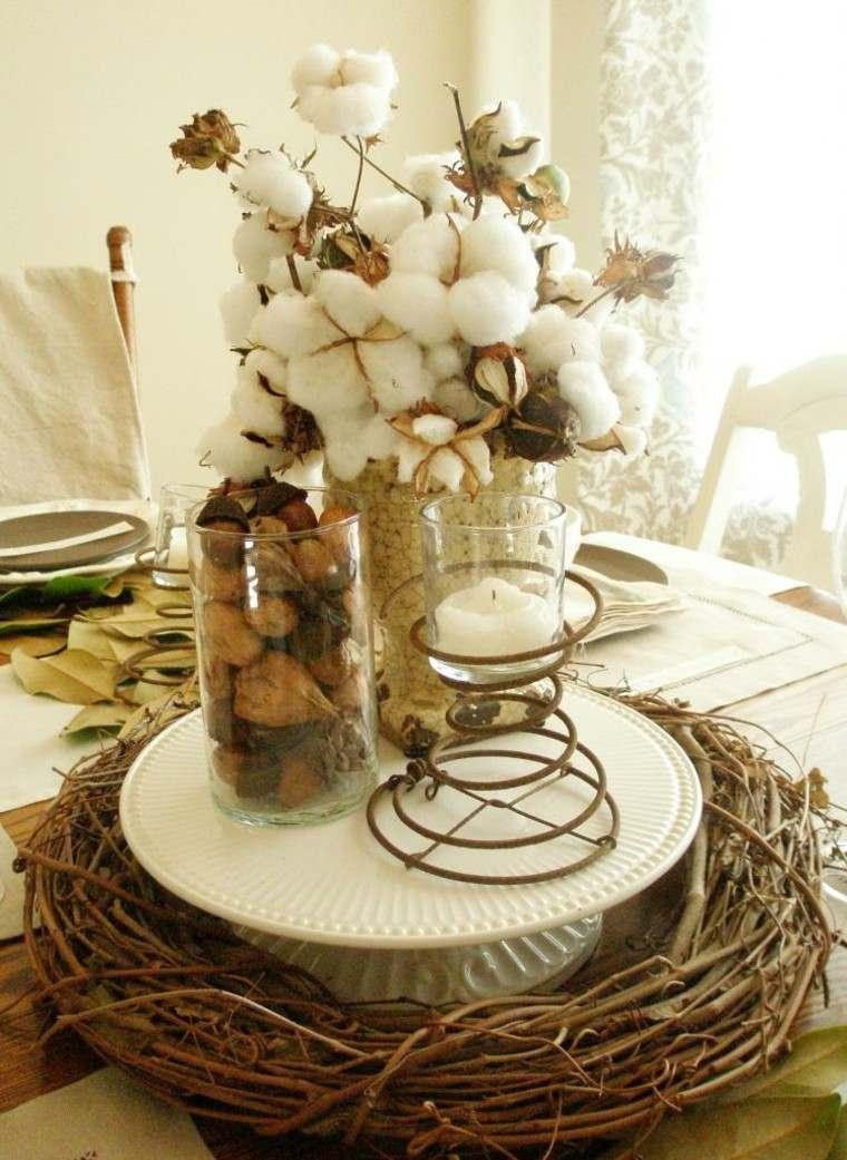 fiestas otono decoracion original algodon decorando ideas