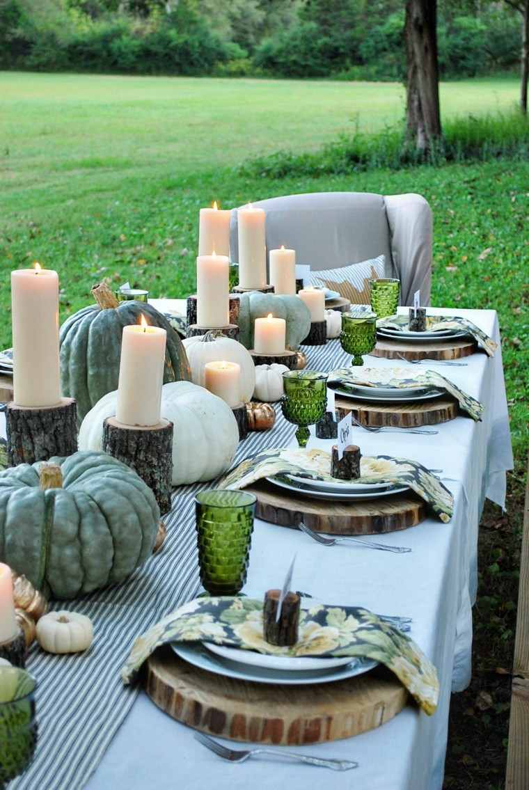 fiestas otono decoracion original jardin mesa preciosa ideas