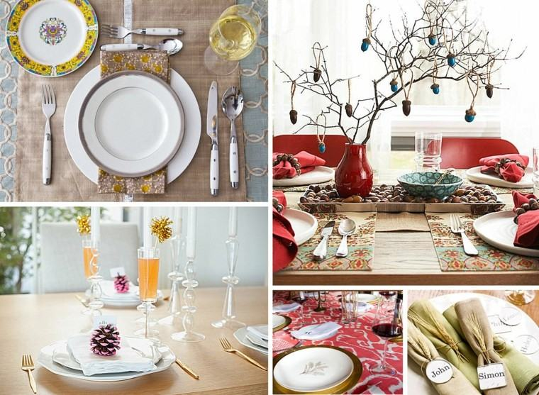 fiestas otono decoracion original mesa preciosa ideas