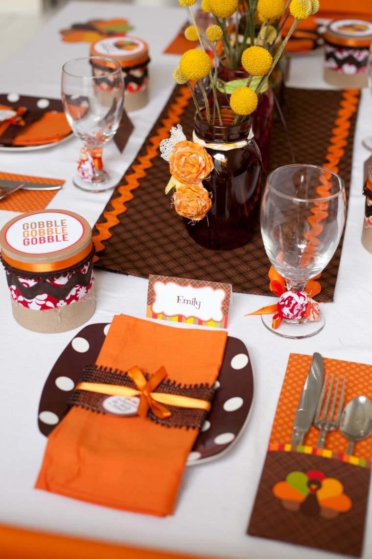 fiestas otono decoracion original tarros flores ideas