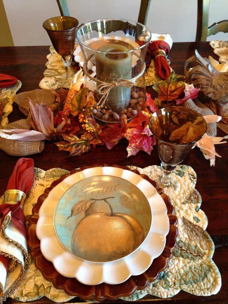 fiestas otono decoracion original vajilla bonita estampa ideas