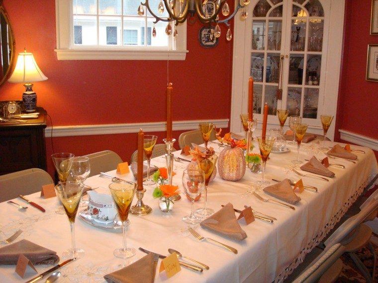 fiestas otono decoracion original velas calabazas ideas