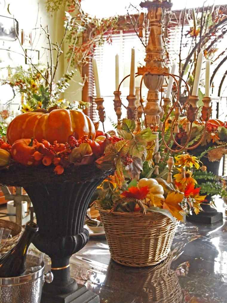 fiestas tematicas flores calabazas fiesta otono ideas