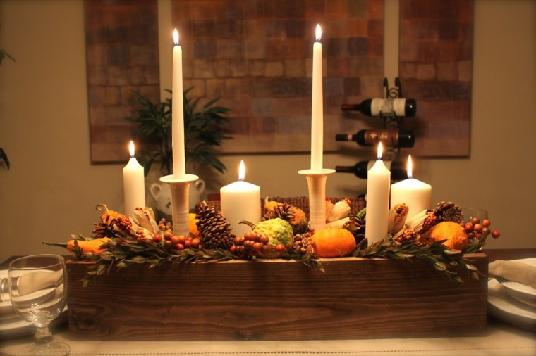 feistas tematicas casa decoracion otono velas distintos tamanos ideas