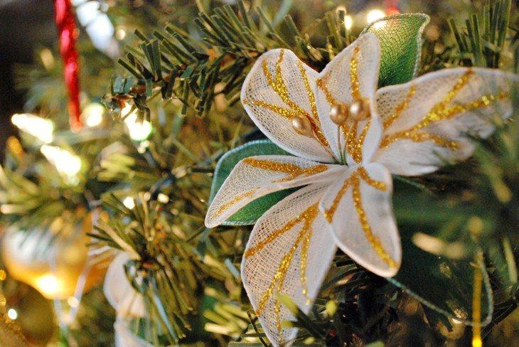 flor decorativa arboles navidad