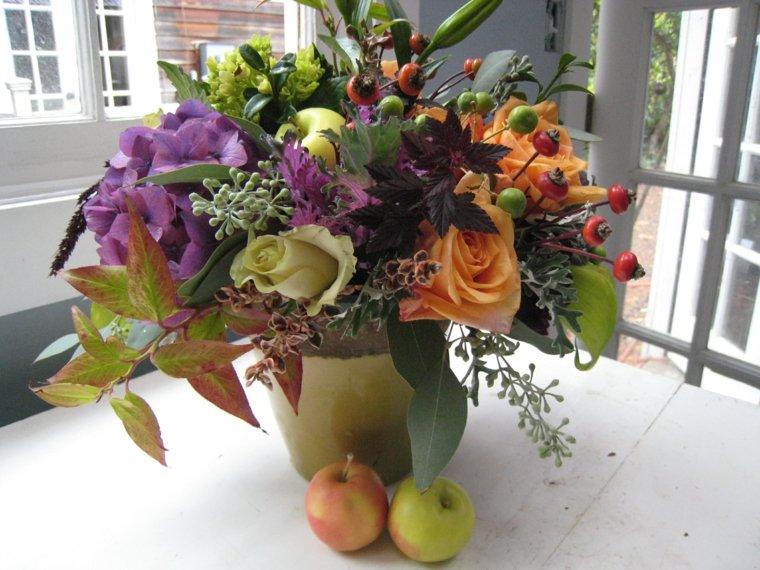 centros florales de otoño