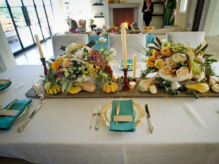 flores mesa decoracion otoño