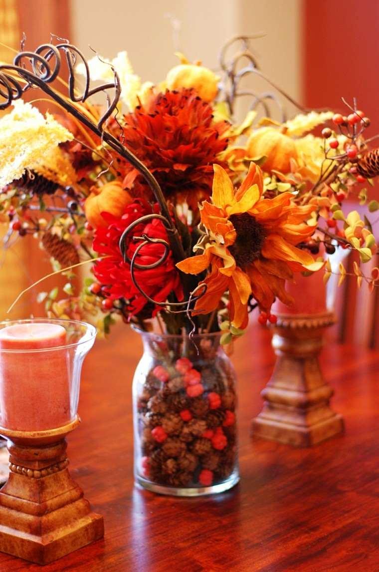 flores otoño decoración mea