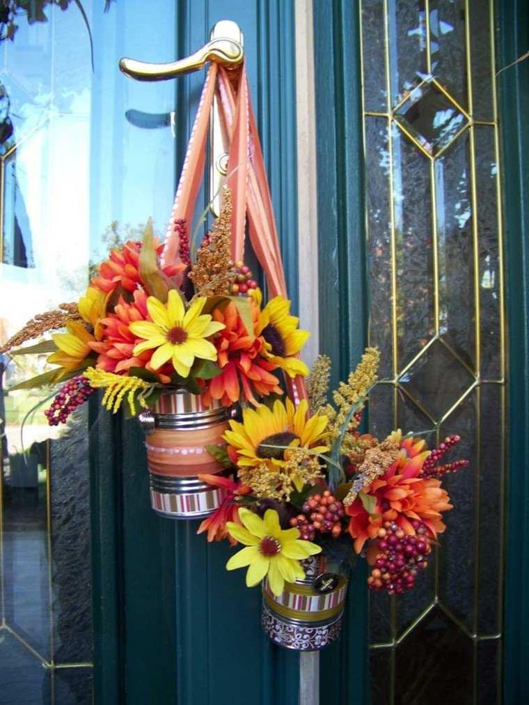 flores puerta detalle cristal diy
