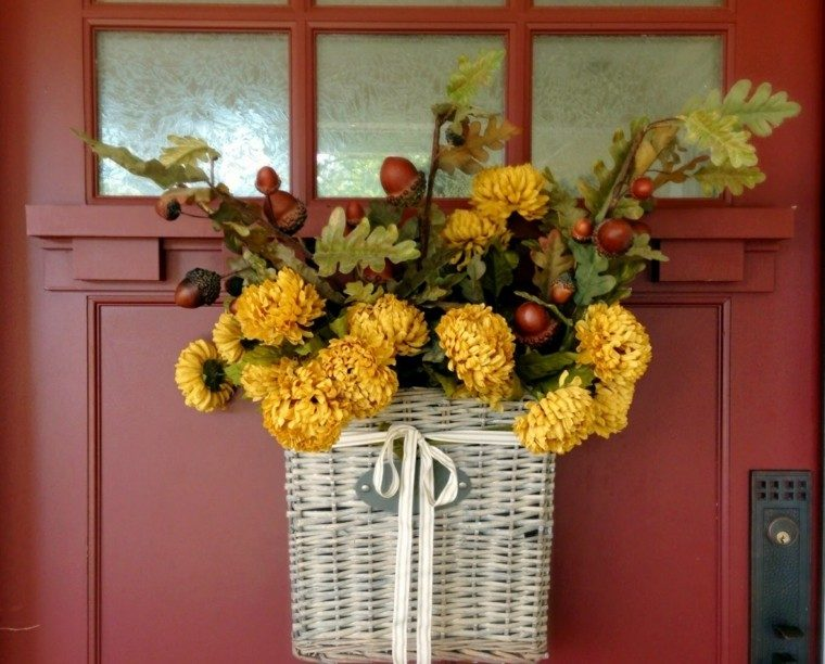 Fotos de flores de oto o para decorar la casa - Decoracion puerta otono ...