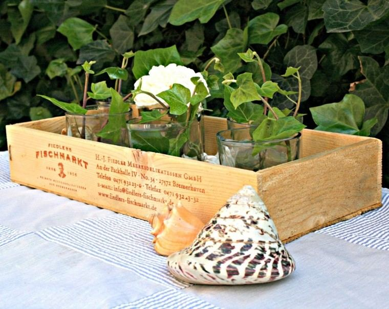 Fotos de flores de oto o para decorar la casa - Como decorar cajas de madera para centros de mesa ...