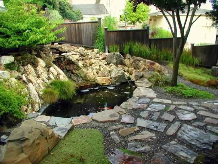 Cascadas y cataratas en el jard n 63 ideas refrescantes for Estanque cascada