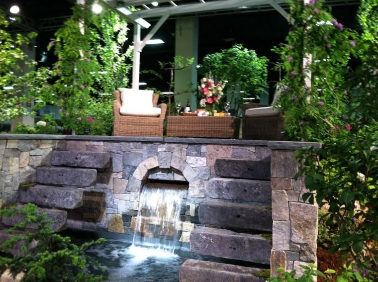 Cascadas y cataratas en el jard n 63 ideas refrescantes for Cascadas y fuentes de jardin