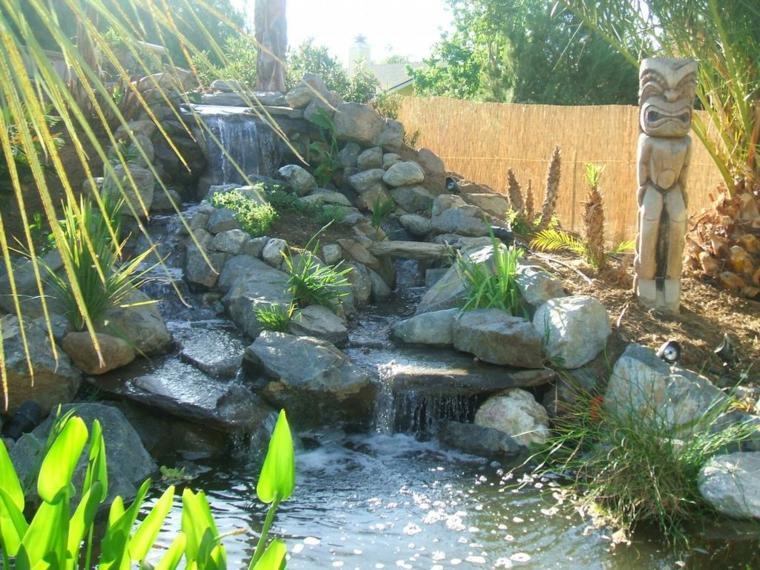 fuente cascada totem jardin deco