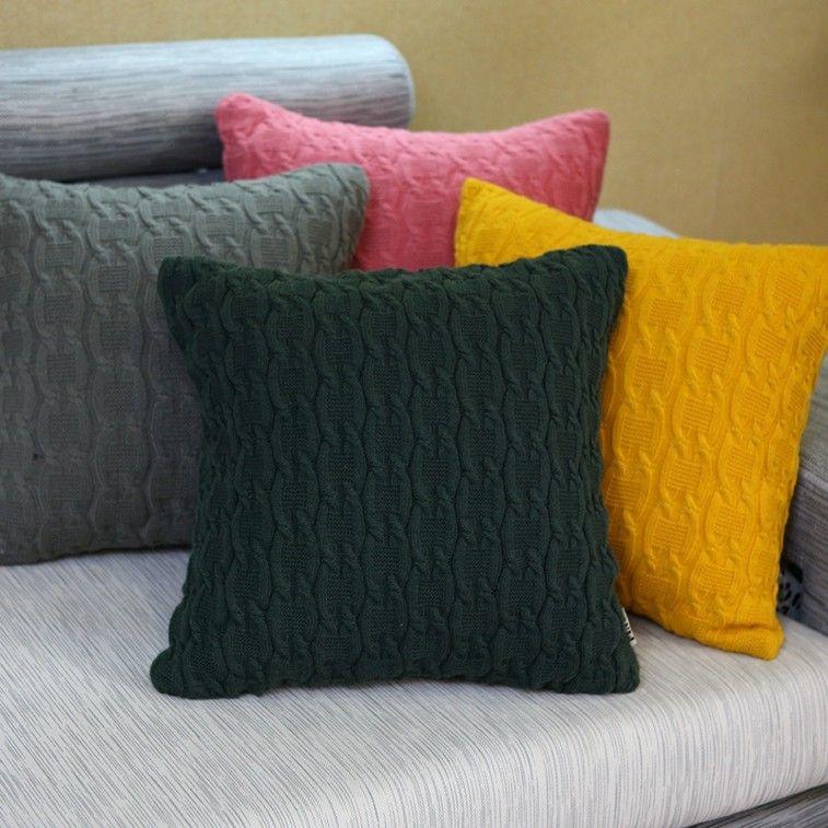fundas cojines originales colores lana