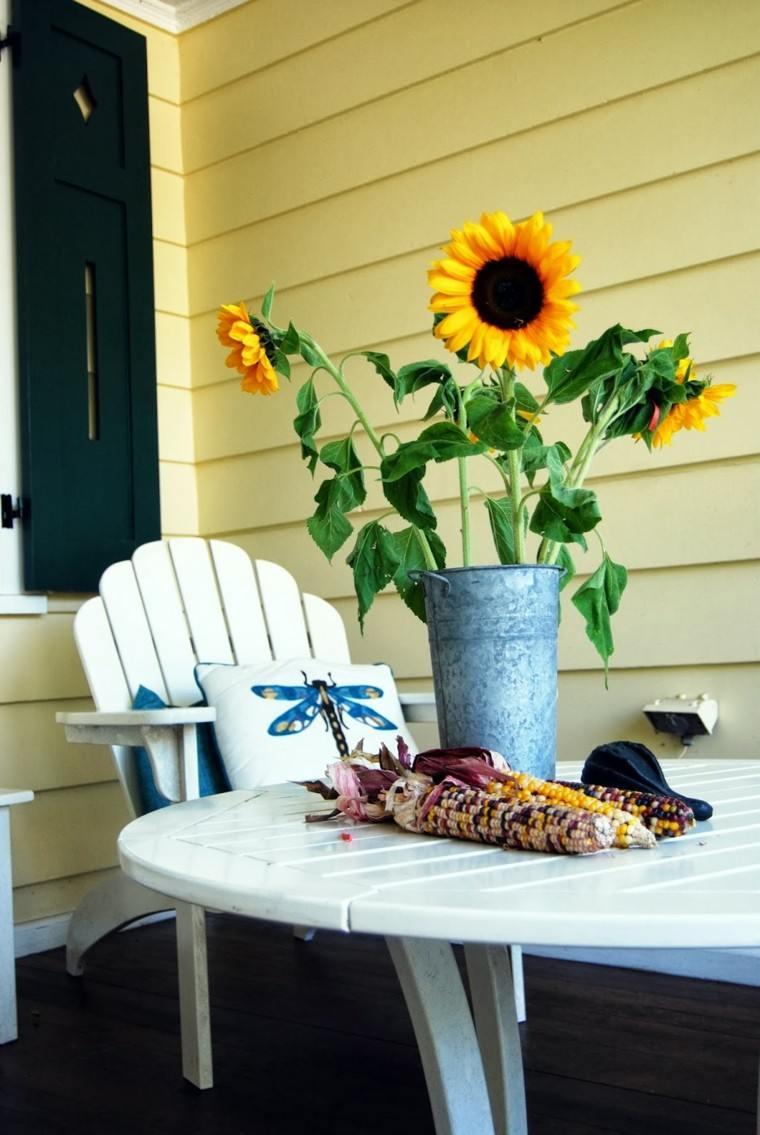 girasol estilo madera muebles mesa