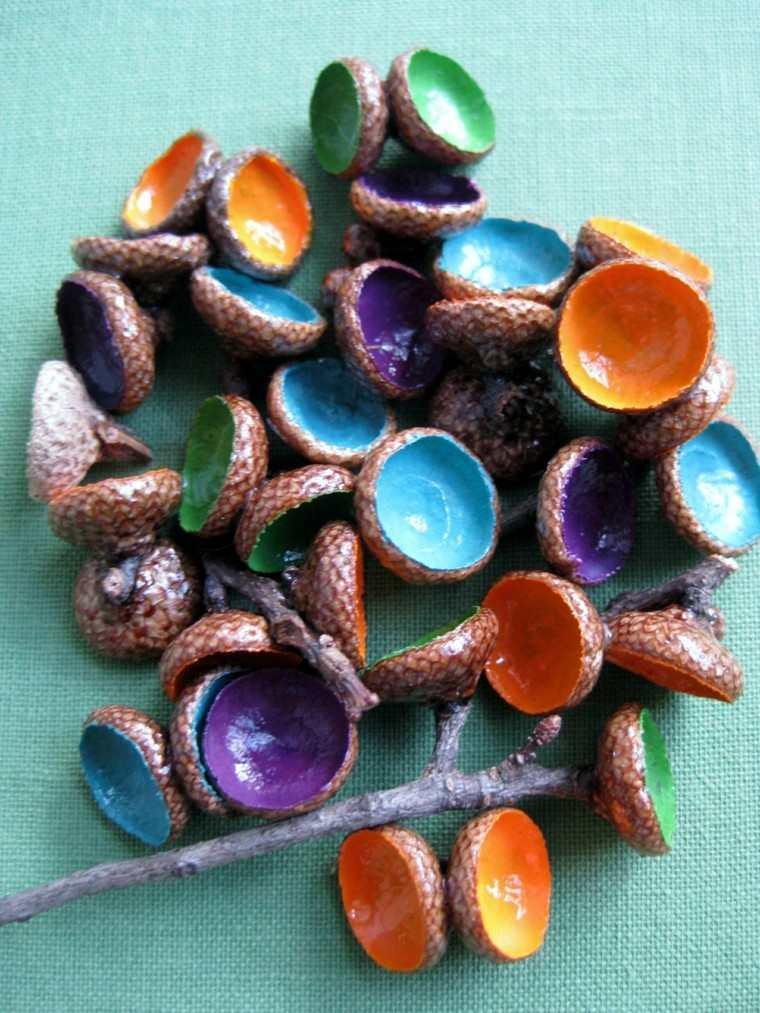 gorritos bellota pintados colores brillo