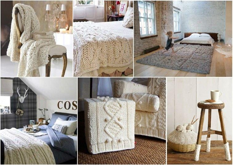 gorros de lana decorativos