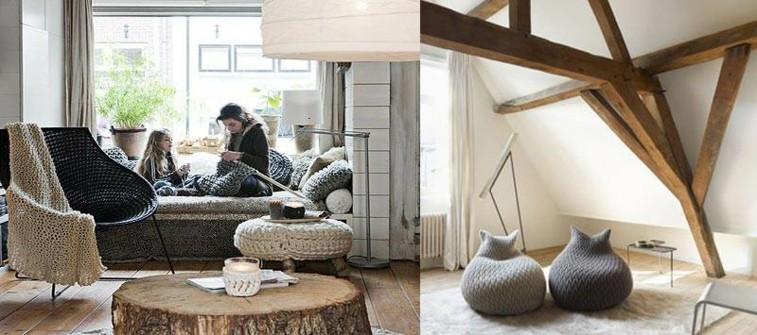 gorros de lana muebles fundas