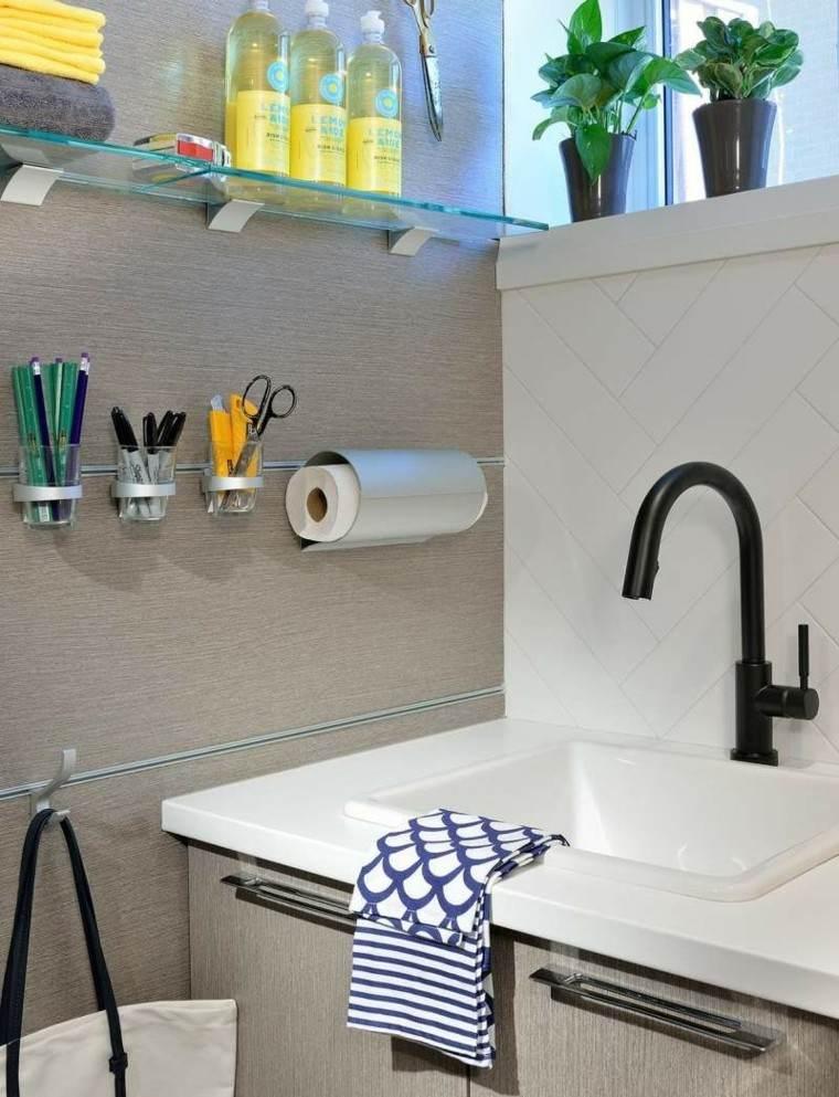 Grifos de cocina y accesorios de ba o en negro 50 ideas Grifos de bano modernos