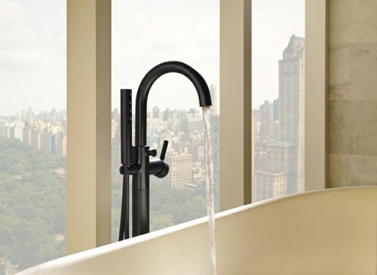 grifo negro vistas bañera ciudad