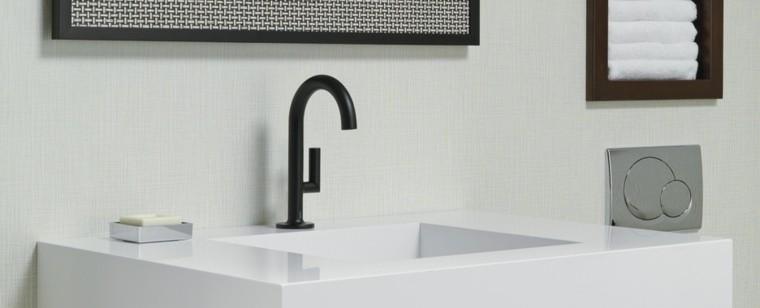 Grifos de cocina y accesorios de ba o en negro 50 ideas - Grifos de lavabo de diseno ...