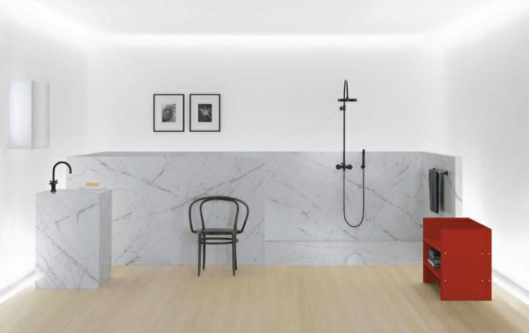 grifos de baño negros marmol