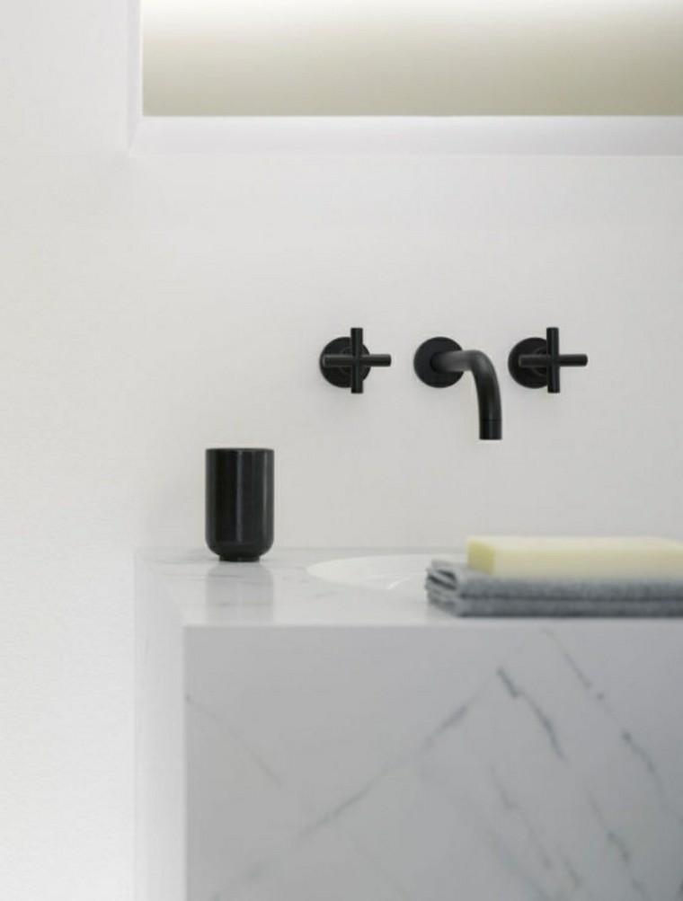 grifos negros baño lavabo