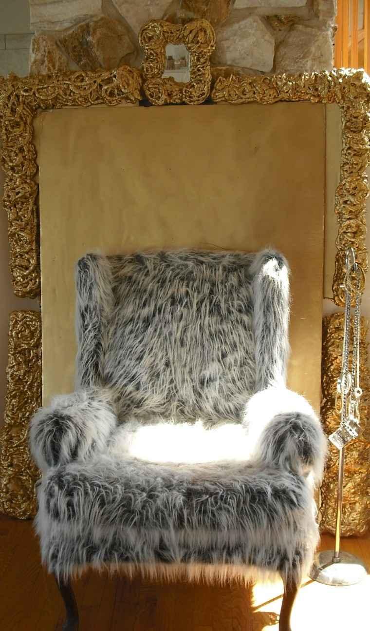 gris elegante dorado cojines pieles
