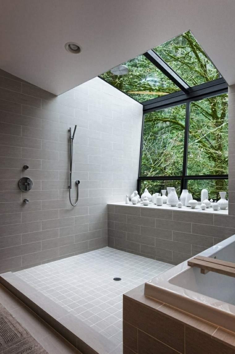 Baño Con Vista Al Jardin:Decoracion de paredes rayas mosaico o acero en la cocina