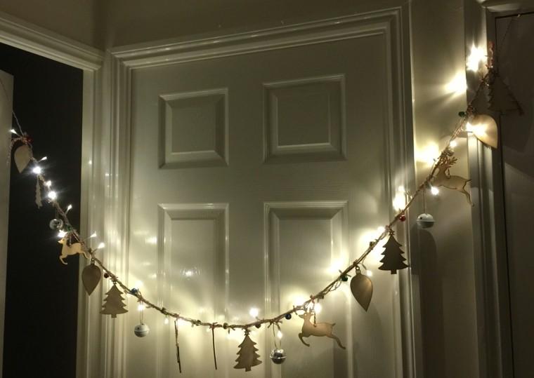 guirnalda de luces decora casa navidad renos arbol navidad ideas