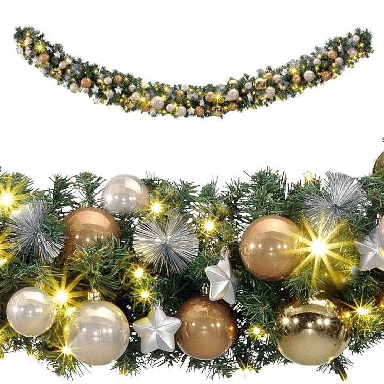 guirnalda de luces decorar chiemena casa navidad ideas