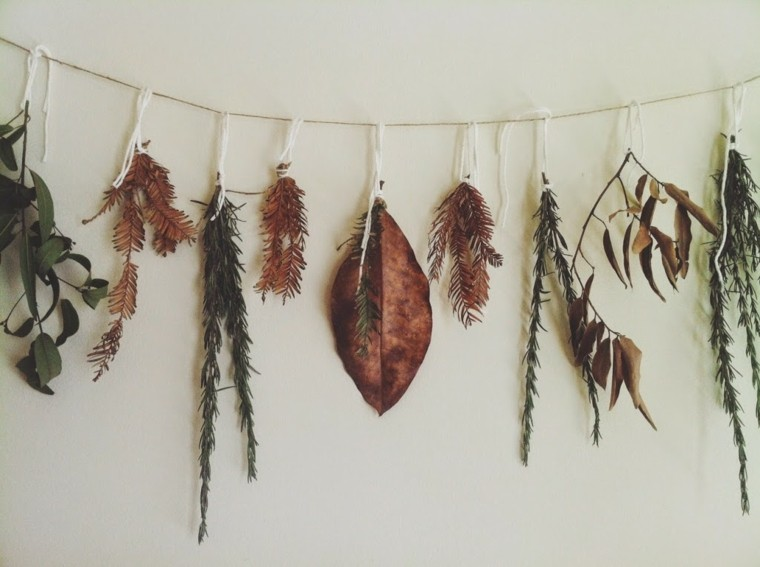 guirnalda hojas secas decio