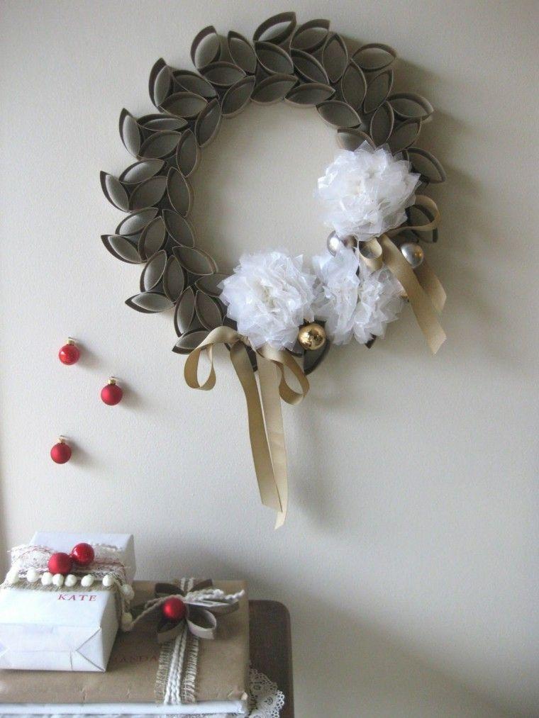 guirnalda navidad acero lazos bolas navidenas ideas